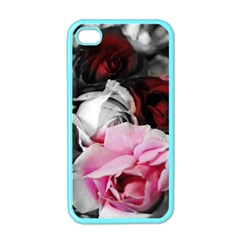 Black And White Roses Apple Iphone 4 Case (color)