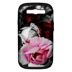 Black And White Roses Samsung Galaxy S Iii Hardshell Case (pc+silicone)