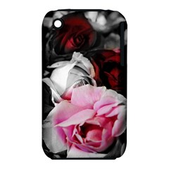 Black and White Roses Apple iPhone 3G/3GS Hardshell Case (PC+Silicone)