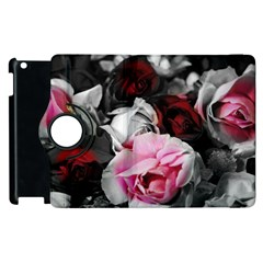Black And White Roses Apple Ipad 3/4 Flip 360 Case