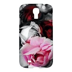 Black And White Roses Samsung Galaxy S4 I9500/i9505 Hardshell Case