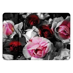 Black And White Roses Samsung Galaxy Tab 8 9  P7300 Flip Case