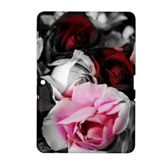 Black and White Roses Samsung Galaxy Tab 2 (10.1 ) P5100 Hardshell Case