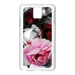 Black and White Roses Samsung Galaxy Note 3 N9005 Case (White)