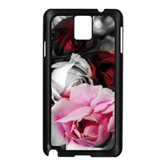 Black and White Roses Samsung Galaxy Note 3 N9005 Case (Black)