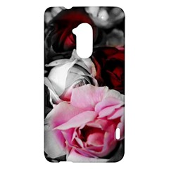 Black and White Roses HTC One Max (T6) Hardshell Case