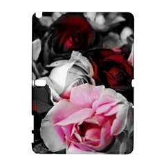 Black and White Roses Samsung Galaxy Note 10.1 (P600) Hardshell Case