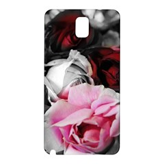 Black and White Roses Samsung Galaxy Note 3 N9005 Hardshell Back Case