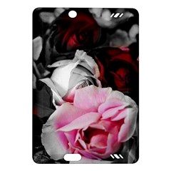 Black and White Roses Kindle Fire HD (2013) Hardshell Case