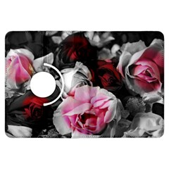 Black And White Roses Kindle Fire Hdx Flip 360 Case