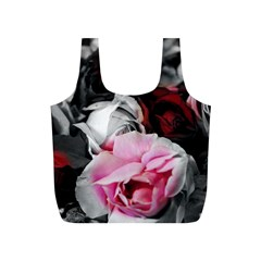 Black And White Roses Reusable Bag (s)