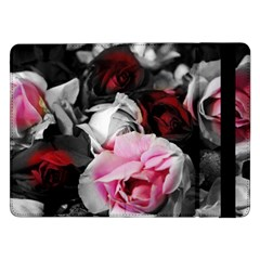 Black And White Roses Samsung Galaxy Tab Pro 12 2  Flip Case