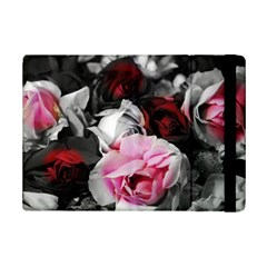 Black and White Roses Apple iPad Mini 2 Flip Case