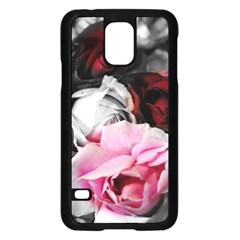 Black and White Roses Samsung Galaxy S5 Case (Black)