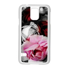 Black And White Roses Samsung Galaxy S5 Case (white)
