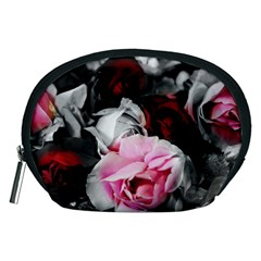 Black and White Roses Accessory Pouch (Medium)