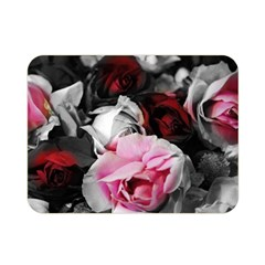 Black And White Roses Double Sided Flano Blanket (mini)