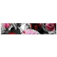 Black And White Roses Flano Scarf (small)