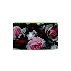 Black and White Roses Cosmetic Bag (XS)