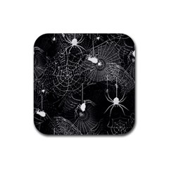 Black and White Spider Webs Drink Coaster (Square)