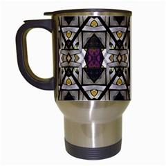 Abstract Geometric Modern Seamless Pattern Travel Mug (white)