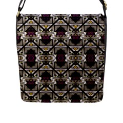 Abstract Geometric Modern Seamless Pattern Flap Closure Messenger Bag (large)