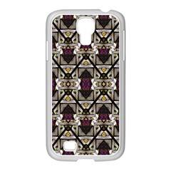 Abstract Geometric Modern Seamless Pattern Samsung GALAXY S4 I9500/ I9505 Case (White)