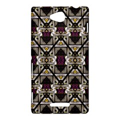 Abstract Geometric Modern Seamless Pattern Sony Xperia C (S39H) Hardshell Case