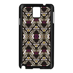 Abstract Geometric Modern Seamless Pattern Samsung Galaxy Note 3 N9005 Case (Black)