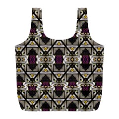 Abstract Geometric Modern Seamless Pattern Reusable Bag (l)