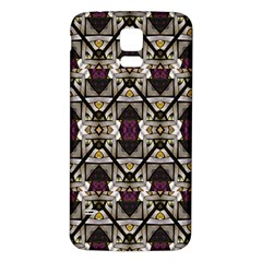 Abstract Geometric Modern Seamless Pattern Samsung Galaxy S5 Back Case (White)