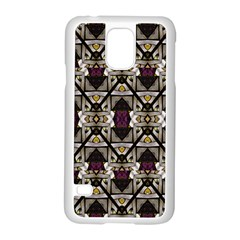 Abstract Geometric Modern Seamless Pattern Samsung Galaxy S5 Case (white)