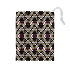 Abstract Geometric Modern Seamless Pattern Drawstring Pouch (Large)