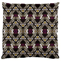 Abstract Geometric Modern Seamless Pattern Large Flano Cushion Case (One Side)