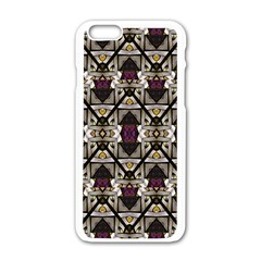 Abstract Geometric Modern Seamless Pattern Apple iPhone 6 White Enamel Case