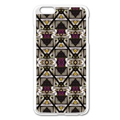 Abstract Geometric Modern Seamless Pattern Apple Iphone 6 Plus Enamel White Case