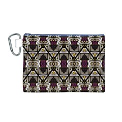 Abstract Geometric Modern Seamless Pattern Canvas Cosmetic Bag (Medium)