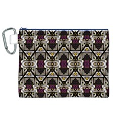 Abstract Geometric Modern Seamless Pattern Canvas Cosmetic Bag (XL)