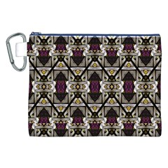Abstract Geometric Modern Seamless Pattern Canvas Cosmetic Bag (XXL)