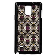 Abstract Geometric Modern Seamless Pattern Samsung Galaxy Note 4 Case (black)