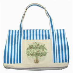 Appletree Blue Striped Tote Bag