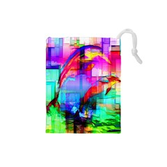 Tim Henderson Dolphins Drawstring Pouch (Small)