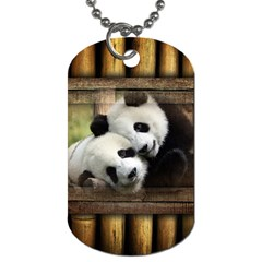 Panda Love Dog Tag (two Sided)