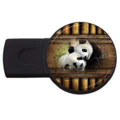 Panda Love 2gb Usb Flash Drive (round)