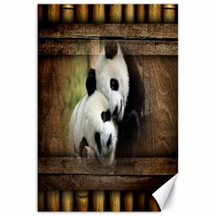 Panda Love Canvas 20  X 30  (unframed)