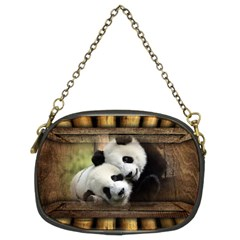 Panda Love Chain Purse (two Sided)