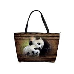 Panda Love Large Shoulder Bag