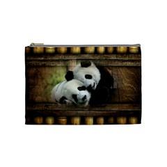 Panda Love Cosmetic Bag (medium)