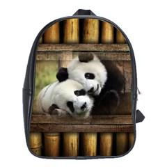 Panda Love School Bag (large)
