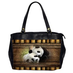 Panda Love Oversize Office Handbag (two Sides)